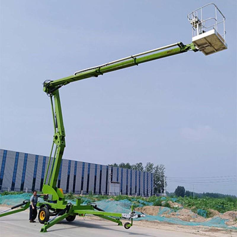 14米拖车折臂升降机