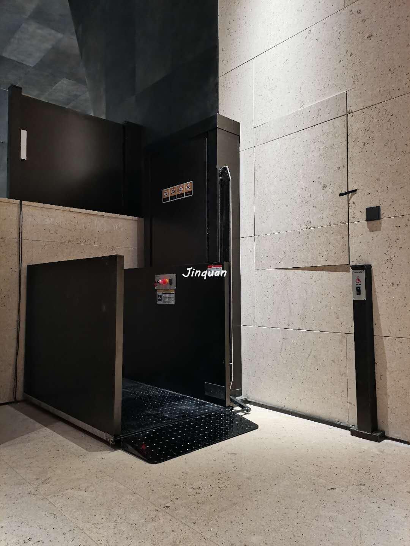 河南博物馆2台无障碍升降平台安装完毕