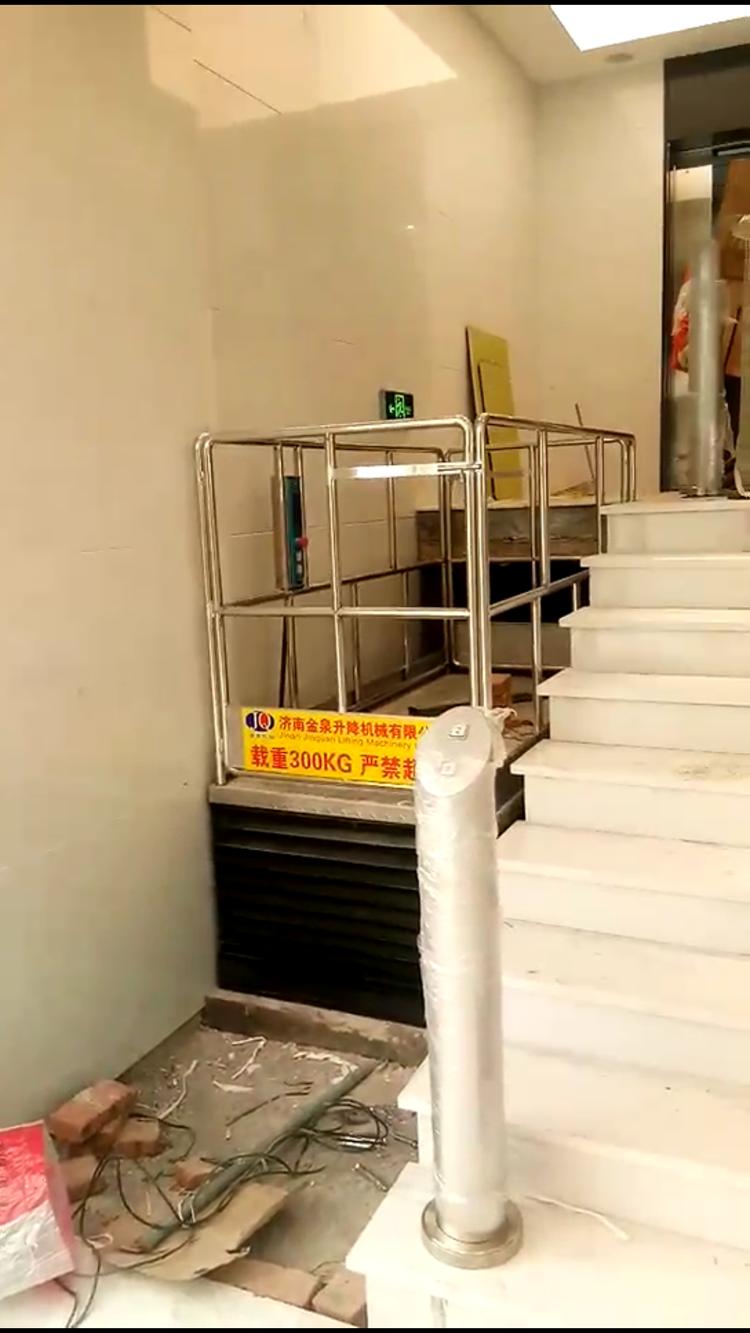上海超薄升降机安装完毕