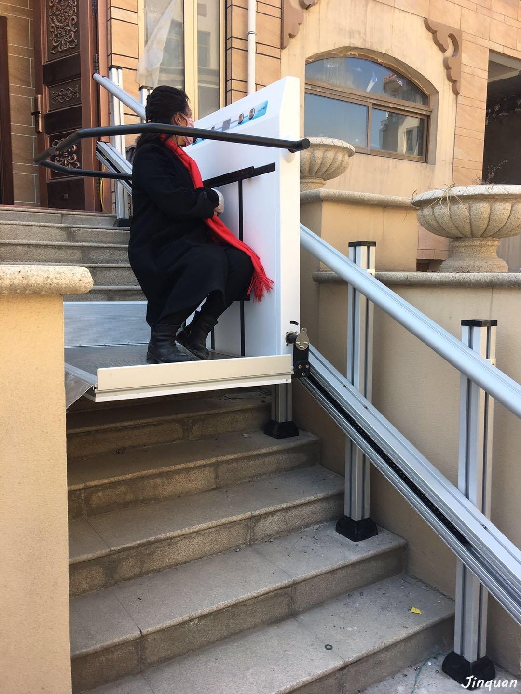 直线式斜挂轮椅升降平台